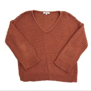 Madewell v-neck knit sweater